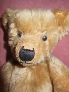 """ANTIQUE VINTAGE CHILTERN TEDDY BEAR MOHAIR VELVET PADS 16"""""""