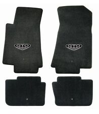 NEW! BLACK  FLOOR MATS 2005-2006 PONTIAC GTO CREST Embroidered Logo 4 pc Set