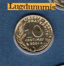 BU 2001 10 Centimes Marianne 2001 BU FDC Pièce Provenant du BU 125000 ex sous sc