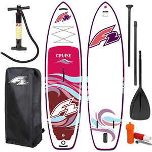 """F2 SUP CRUISE WOMAN 10,5"""" 2022 ~ STAND UP PADDLE BOARD + PADDEL + BAG + PUMPE"""