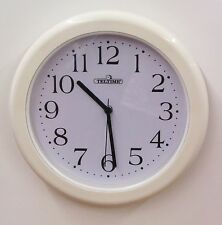 "TELETIME 12"" WALL CLOCK  WATER RESISTANT  FOR BATHROOM, KITCHEN C-97165W"