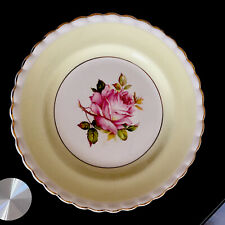 More details for j & g meakin sol pattern pink rose lemon yellow border 10 inch plate 391413