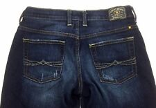 Lucky Brand Womens Jeans 2 26 Firefly Easy Rider Crop Dark Wash Distressed