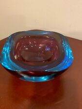 Gino Cenedese Attributed Sommerso Glass Bowl, circa 1960