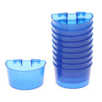 10 Pcs Drinker Cup Hanging Feed & Water Cage Cups for Bird Pigeons Parrot