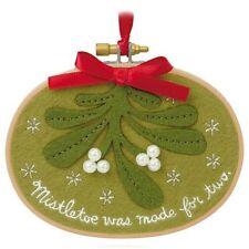 Together Under The Mistletoe 2015 Hallmark Ornament Love Kissing Kiss Red Green