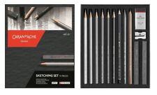 CARAN D'ACHE SKETCHING SET 14 pieces set studio schizzo matite graphite