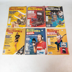 Elementary Electronics 1981 Lot 6 Vintage Magazines Great Content & Ads