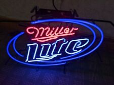 Preowned Miller Lite Neon Light Sign approx 18x 24 Beer Bar Real Glass
