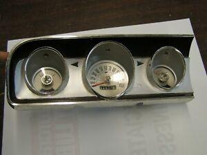 OEM Ford 1964 Fairlane Instrument Cluster Speedometer Gauges Fuel Temperature +