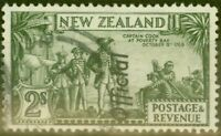New Zealand 1942 2s Olive-Green SG0132c P.12.5 Fine Used