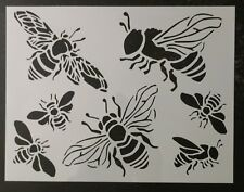 "Honey Bee Bumble Bees 11"" x 8.5"" Custom Stencil FAST FREE SHIPPING"
