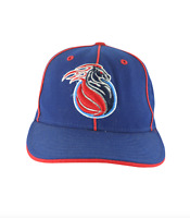 Vintage New Era Detroit Pistons Flames Horse Logo Basketball Fitted Hat 7 1/8