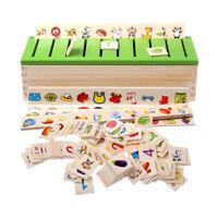 Montessori Juego de Madera Carton Clasificación para Niño Educación Temprana