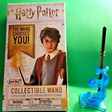 """Jakks Harry Potter Collectible 4"""" Die-Cast Mini Wand W/ Stand Draco Malfoy"""
