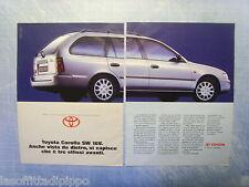 QUATTROR993-PUBBLICITA'/ADVERTISING-1993- TOYOTA COROLLA SW 16V (A) -2 fogli