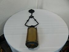 "Vintage! 32"" Old Forged Cast Iron LIGHTOLIER Gothic Ceiling Light Fixture"