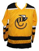Any Name Number Size Cincinnati Stingers Custom Retro Hockey Jersey Yellow