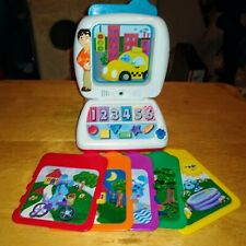 Vintage Mattel Blues Clues LEARNING LESSONS COMPUTER 6 Cards Talking Joe 1999