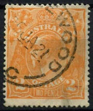 Australia 1917-23 SG#62, 2d Orange KGV Used #D48560