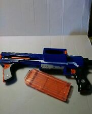 Nerf Rampage 12 Round Clip Blue in color Pump Action