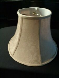 Lamp Shade, Large, Tone on Tone Beige Print w/ silk lining