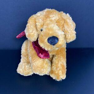 "Russ Berrie 13"" Toastin Dog Puppy Plush Stuffed Golden Retriever Cocker Spaniel"