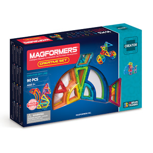 Genuine MAGFORMERS CREATIVE SET 90 pieces 3D Magnetic Construction Award Winner