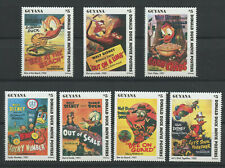 Disney Donald Duck Movie Posters 7 mnh stamps 1996 Guyana Set 5