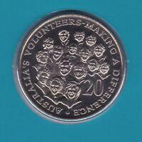 2003 20 Twenty Cent UNC Uncirculated Coin ex Mint Set  Year Volunteers