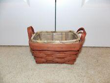 * Longaberger * 2006 Tea Combo (Basket, Liner, & Protector) Cinnamon Stain