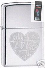Zippo 24198 for the love of chrome Lighter + FLINT PACK