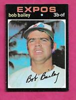 1971 TOPPS # 157 EXPOS BOB BAILEY NRMT-MT CARD (INV# C1252)