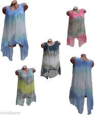 Mehrfarbige Damenblusen,-Tops & -Shirts im Tuniken-Stil mit Rundhals und Viskose