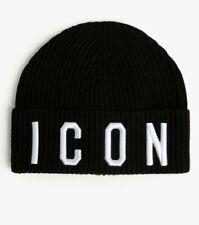 Dsquared2 ICON Kids Black Logo Beanie Hat. 3 Years. Designer