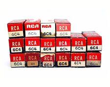 16pcs Vintage Vacuum Tube RCA 6C4 NOS NIB ( = 1/2 12AX7 5960 ) Long Plate USA