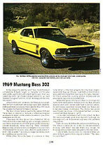 1969 Ford Mustang Boss 302 Article - Must See !!