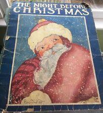 The Night Before Christmas 1936 ill. Fern Bisel Peat Saalfield Publishing #878
