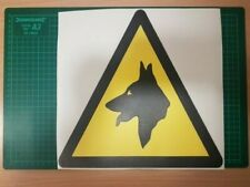 Large 30cm Beware of the Dogs WARNING SAFETY Sign/Sticker Car/Van/Walls/Windows
