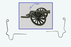 2 MARX wire Cannon & Machine Gun triggers toy soldiers Alamo, WWII