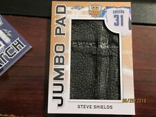 2017-18 LEAF MASKED MEN HOCKEY JUMBO PAD 1/c PATCH #6/15 DUCKS Steve Shields