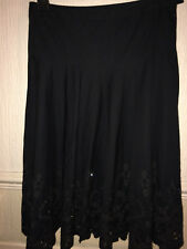 Black Evening Skirt, Beaded SPARKLE , Embroidered, Size 12 George Xmas Party.