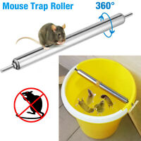 Metal Mice Rats Mouse Trap killer Roll log Grasp Bucket Rolling Spinning Roller