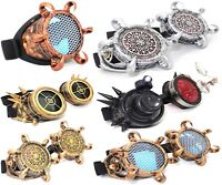 WELDING CYBER GOGGLES STEAMPUNK COSPLAY GOTH ANTIQUE VICTORIAN SPIKES LED LOUPE