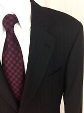 Hugo Boss Black Label Mens 38R Black 2-Button Wool Blazer Suit Coat Sport Jacket
