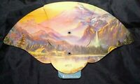 Northumberland PA. Beautiful Antique Rocky Mountains Hand Fan Burke Funeral Home