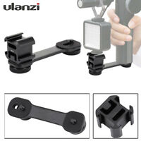 Ulanzi PT-3 Alloy Triple Hot Shoe Mount Adapter Converter Mic Stand Bracket LED