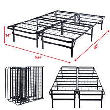 """Queen Size Platform Metal Bed Frame Mattress Foundation 80""""X60""""X14""""  GOPLUS"""