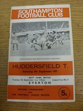 04/09/1971 Southampton v Huddersfield Town  (Score Noted On Back). Thanks for ta