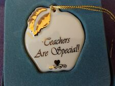 Lenox Teachers Are Special! Apple Ornament Gold Leaf